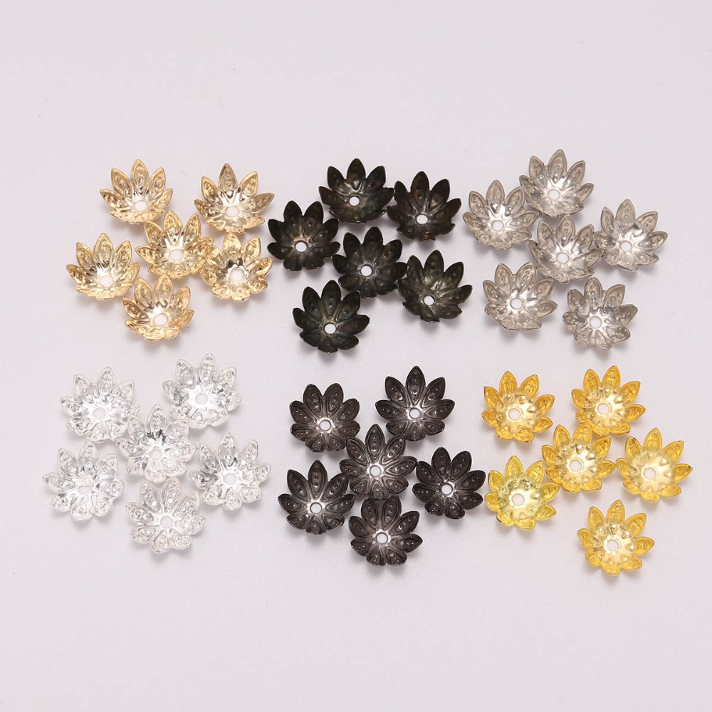 US $1.11 30% OFF|100pcs/Lot 8 10 mm Silver Lotus Flower Metal Loose Spacer Bead Caps Cone End Beads Cap Filigree For DIY Jewelry Finding Making-in Jewelry Findings & Components from Jewelry & Accessories on Aliexpress.com | Alibaba Group