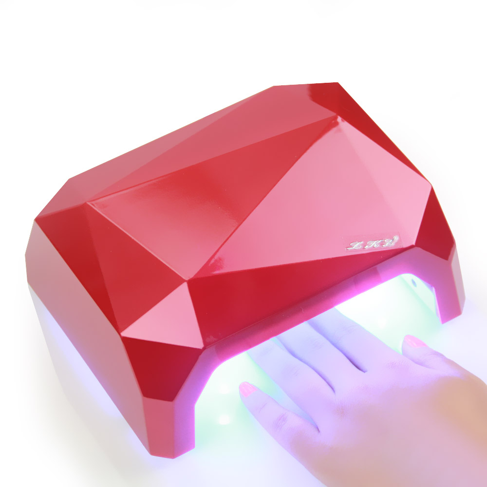 New 36W UV Led Lamp Nail Dryer 6 Color Diamond Shaped LED UV Lamp Nail Lamp