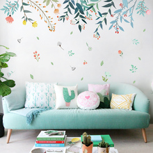 DICOR самодельные цветы отражение украшения дома книги по искусству наклейки на стену для гостиной красочные красивые съемные клейкие де parede