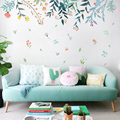 New DIY Flowers Reflection Home Decoration Art Wall Stickers for Living Rooms Colorful Beautiful Removable Adesivo de parede