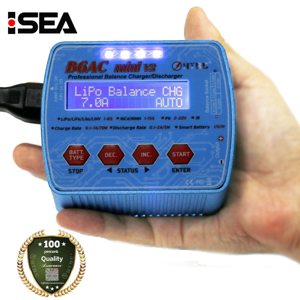 2017 HTRC iMax B6AC мини V2 70 Вт 7A цифровой карман RC Батарея баланс Зарядное устройство Lipo lihv LiIon LiFe NiCd NiMH Батарея Dis Зарядное устройство