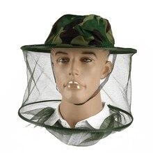 Маска с насекомым полезные анти-москитные рыболовные кепки пчелы, насекомые Защита лица шляпа чистая камуфляжная кепка