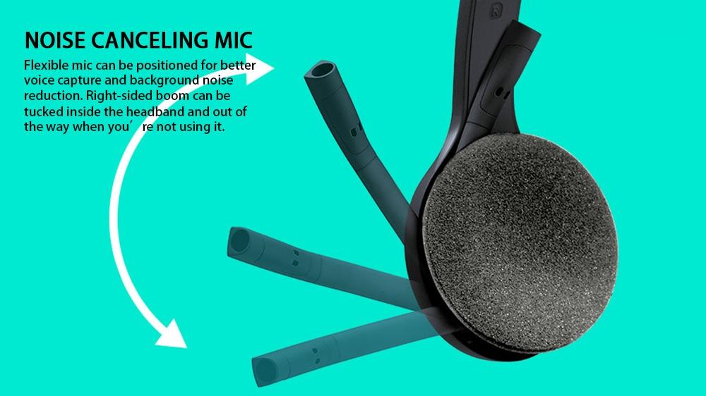 Беспроводные наушники logitech H600 с микрофоном с шумоподавлением Nano USB, беспроводная гарнитура для почти платформы и операционных систем