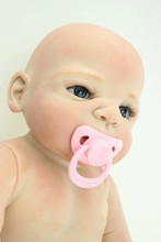 Tam silikon vinil 22 inç Yeniden Doğmuş Erkek Bebek Bebek El Yapımı yumuşak Silikon Gerçekçi NPK Bebekler Klasik Bebek Oyuncakları Çocuklar Emzik hediye