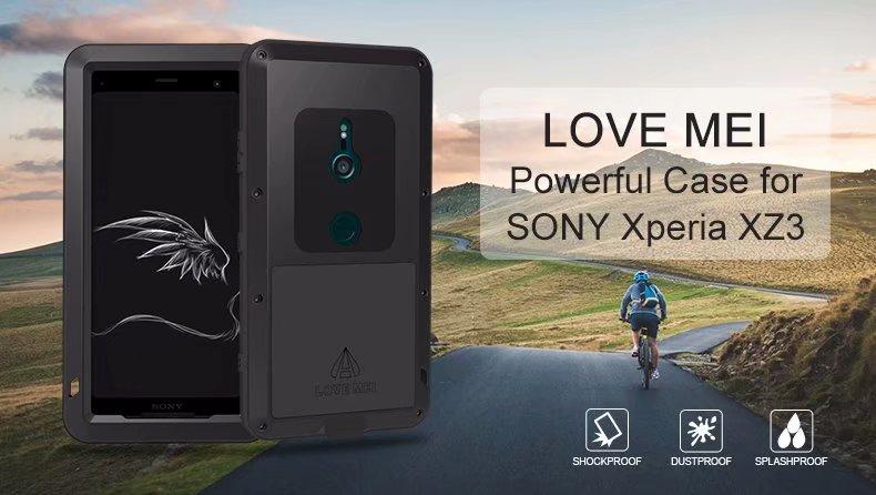 Love Mei étui puissant pour Sony Xperia XZ3 vie étanche antichoc résistant à la poussière résistant à la poussière double étui rugueux pour Sony XZ3