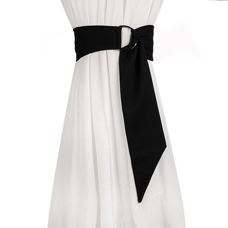 Mode automne 2 couleurs tissu ceintures large femelle décoration brève ceinture pour femmes hiver manteau vêtements Interl Cummerbunds