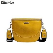 DIINOVIVO Solid Women Shoulder Bags New Fashion Chest Bags Summer Fanny Pack Leather Travel Female Bag Purse Waist Bags WHDV1096 цена