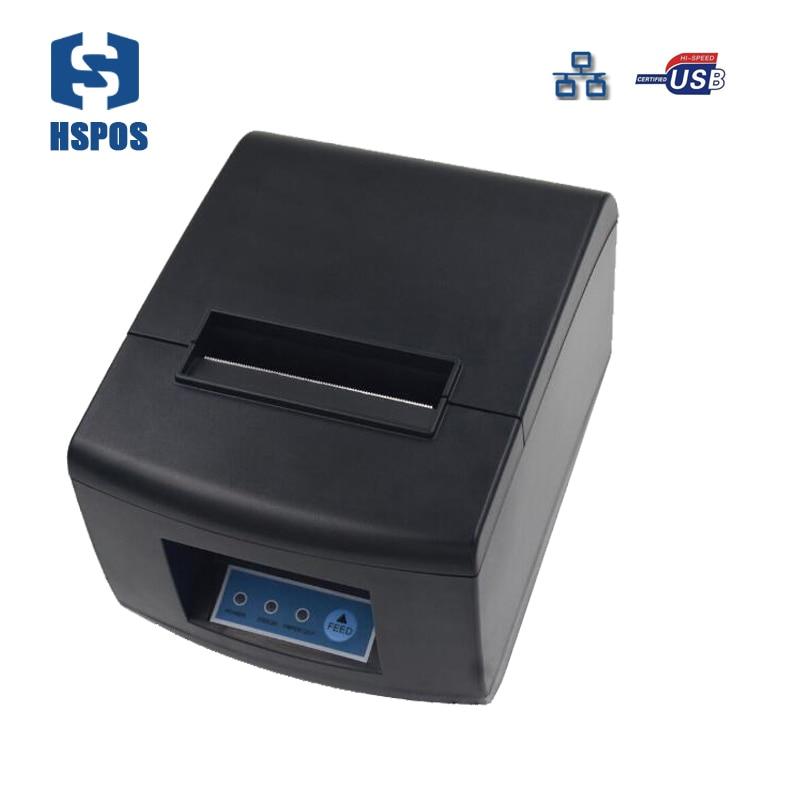 Горячая Распродажа 80 мм термальность чековый принтер usb и lan порты разъёмы impressora Поддержка проводной несколько Компьютер печати