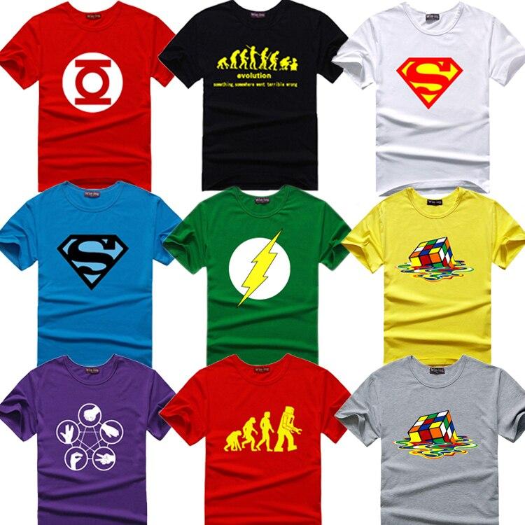 The Big Bang Theory T-shirt Sheldon Men Print Bazinga Lycra Cotton Short-sleeve T shirts for Men Cooper Geek Logo T shirt men