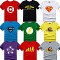 The big bang theory T-SHIRT bazinga 2015 sheldon impresión Lycra algodón de manga corta para camisetas para hombre Cooper friki Logo camiseta del hombre