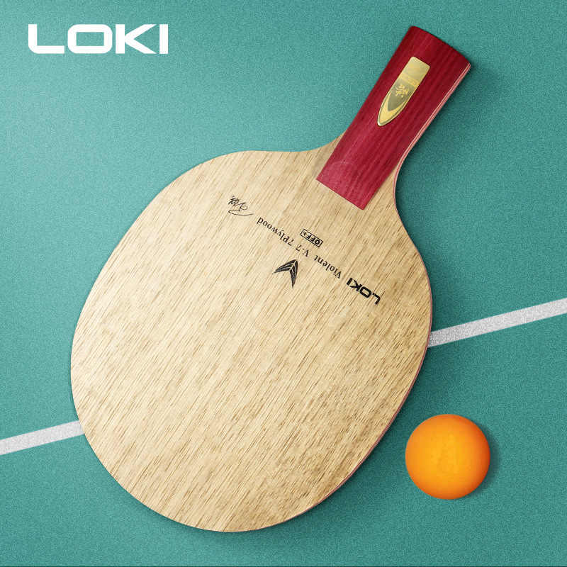 7 Ply CR CL Surface Full Wood Carbon Fiber Ping Pong Paddle Raytheon Quick Attack Pure Wood Table Tennis Blade Racket Ping Pong