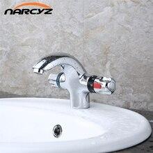 Barato montado cubierta de latón termostática grifo del lavabo del grifo XT-1017