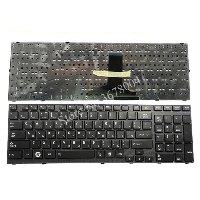 New Russian keyboard FOR <font><b>Toshiba</b></font> <font><b>Satellite</b></font> <font><b>P750</b></font> P755 P750D P770 P770D P775 X770 X775 RU Laptop Keyboard black image