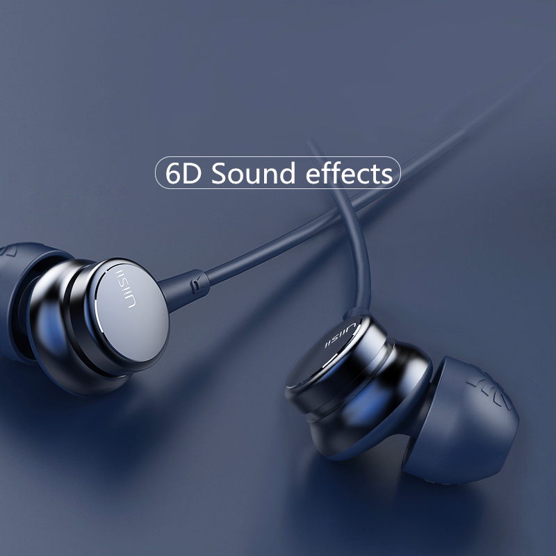 3791e9e7a34 UiiSii HM9 Wired Noise Cancelling Dynamic Heavy Bass Music Metal In-ear  with Mic