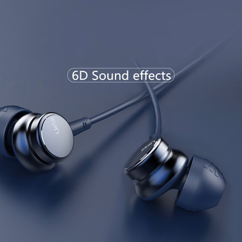 UiiSii HM9 Hot Selling Wired Noise Cancelling Dynamic Heavy Bass Music Metal In-ear with Mic Earphone for iphone Xiaomi Samsung