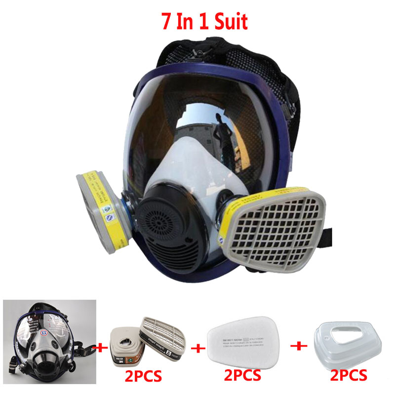Double Use Paint Spray Gas Mask Same For 3M 6800 Full Face Mask Face Piece Industry Respirator