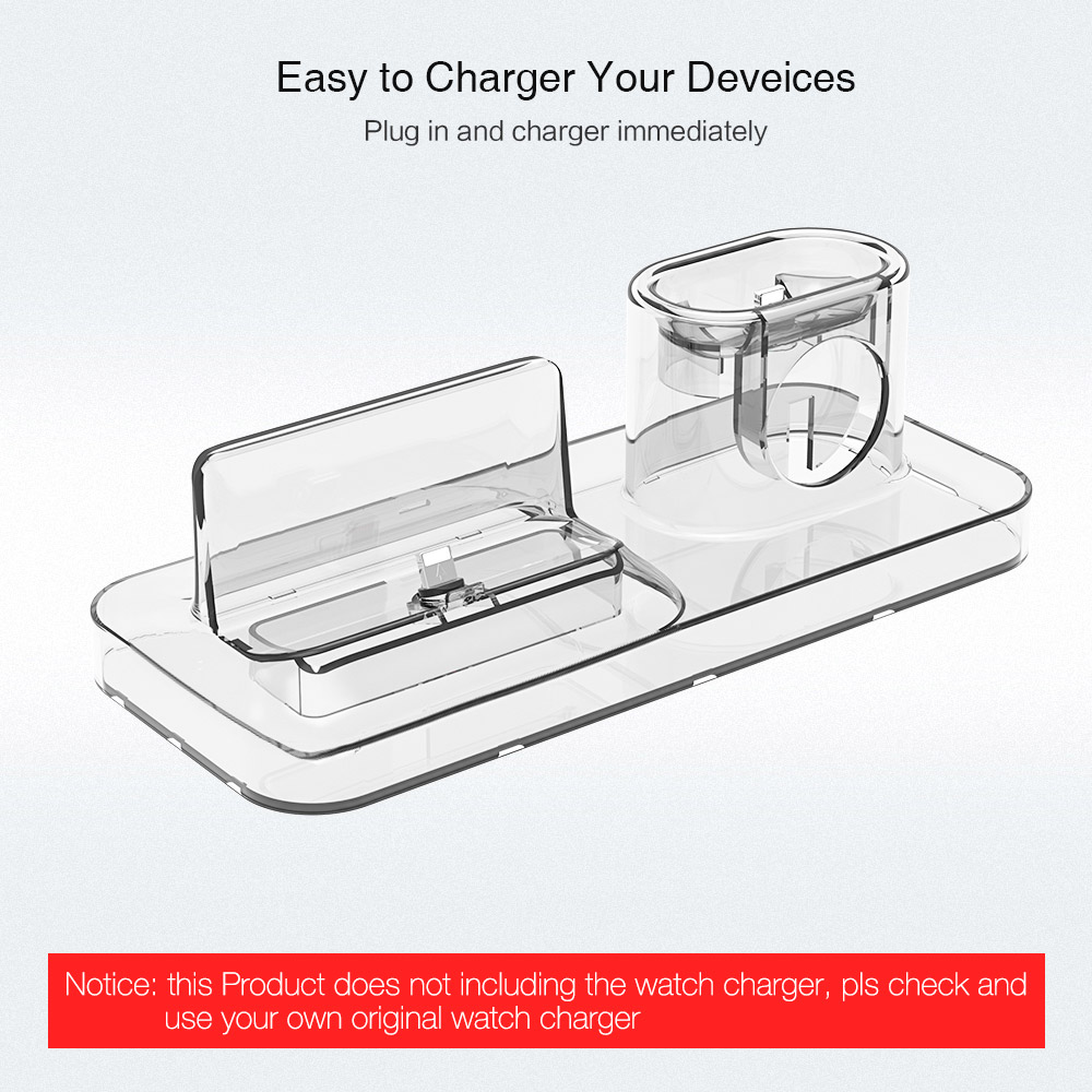 RAXFLY 3 IN 1 Charger For iPhone X S MAX XR 8 7 Desktop Wireless Charger For Apple Watch 4 3 For Air Pods Charging Dock Station
