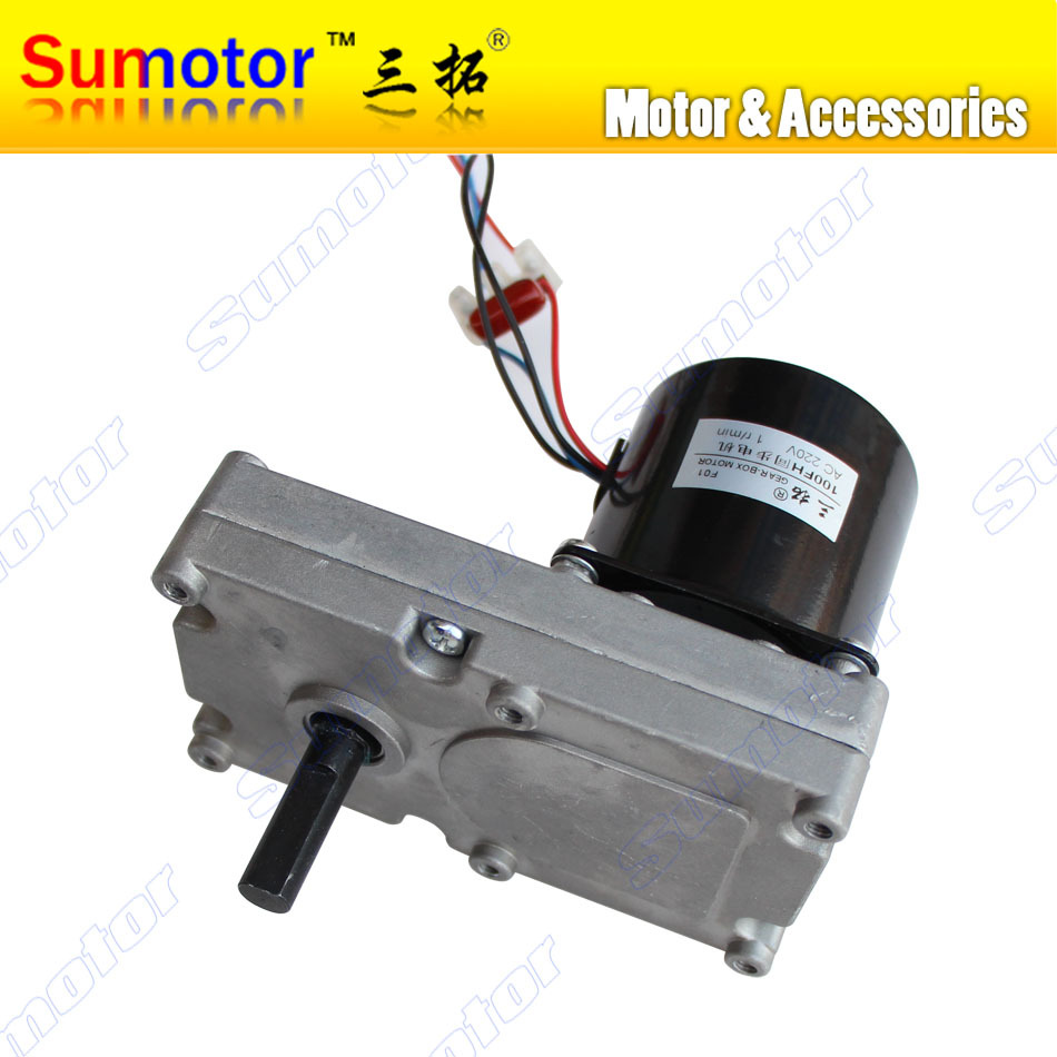 цена на 120FH 1rpm AC 220V 14W low speed High torque Durable Gear Reducer Plate Gear Box AC synchronous Motor CW CCW Agriculture engine