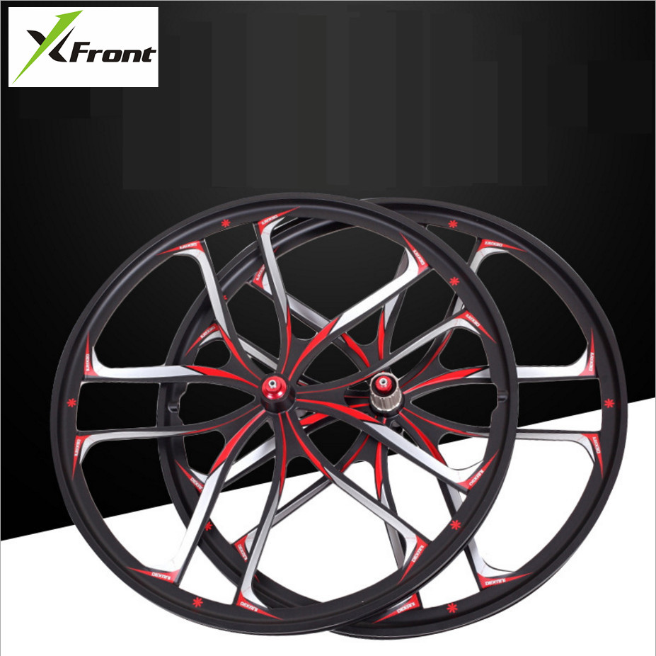 New MTB light weight magnesium alloy 10 cutter wheel 26 inches bicycle wheel mountain bike wheels