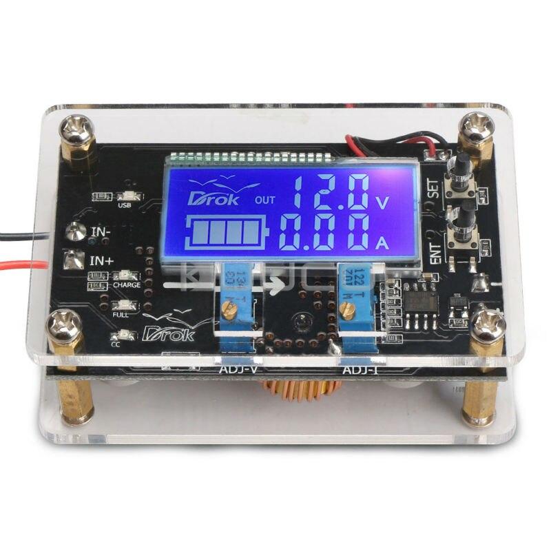 75W Power Supply Module/USB Charger DC 6~32V to 1.25~32V 5A Buck Adjustable Voltage Regulator DC 12V 24V Adapter+Digital Meter
