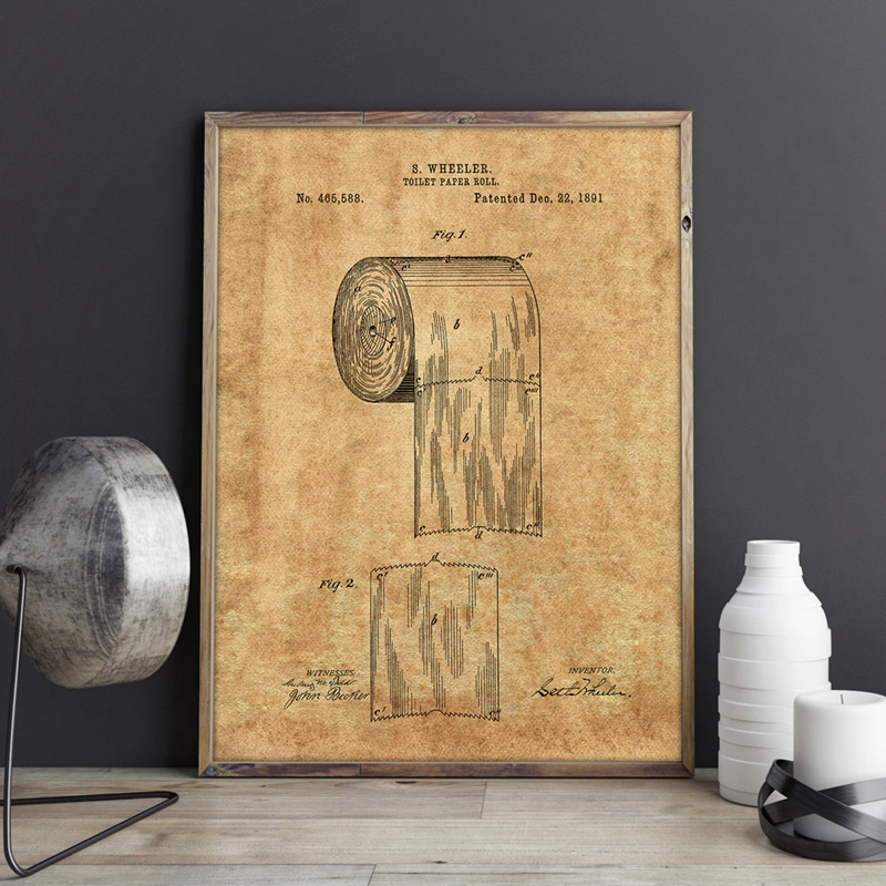 Toilet Paper Wall Art Print
