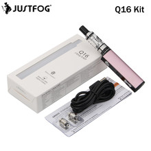 Electronic Cigarette JUSTFOG Q16 Kit 900mAh and 1.9ml Q16 Clearomizer With Justfog Q16 Coil vs P16A Vape Pen(China)