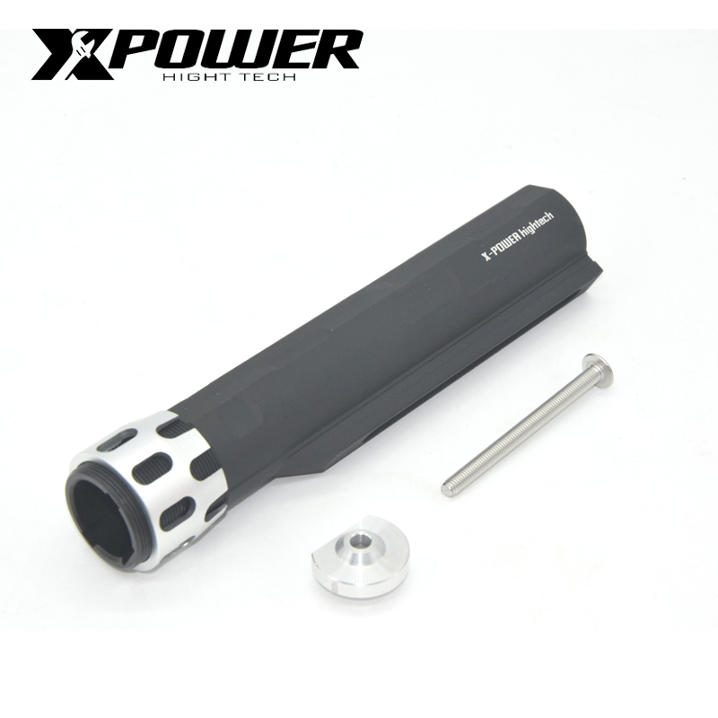 XPOWER AEG Stock Pipe Buttstock For Marui WMS Paintball Accessories Airsoft M4 CNC Outdoor Sports