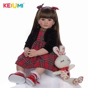 Image 2 - Keiumi 24インチリボーン人形60センチメートル布ボディ現実的なプリンセスガールベビー人形販売のための民族人形子供誕生日クリスマスギフト