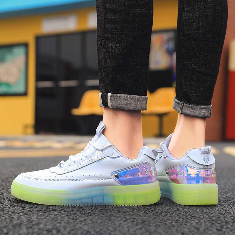 ERNESTNM Sneakers Women 2019 Rainbow Bottom Glitter Sneaker Bling Green Shoes High Quality PU Platform Sneakers Zapatos De Mujer