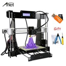 Anet A8 i3 Impresora 3D Drucker Hohe Präzision Imprimante 3D DIY Kit Mit Aluminium Extruder Brutstätte Sd-karte Bauen Werkzeuge Filament