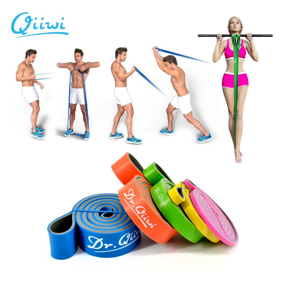 "Dr.Qiiwi 41"" Elastic Pull Up Assist Bands Exercise Resistance Bands For Workout Body Stretch Fitness Yoga Rubber Loop Band"