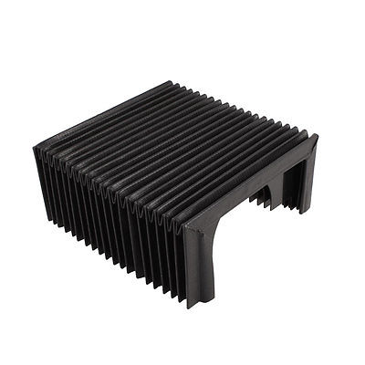 Folded 14.5x6.5x6.5cm Replacement Accordion Shape Flexible Dust Cover for Milling Machine Unfolded 14.5x24x6.5cmFolded 14.5x6.5x6.5cm Replacement Accordion Shape Flexible Dust Cover for Milling Machine Unfolded 14.5x24x6.5cm