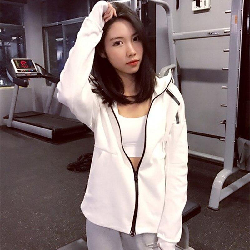 Jaquetas Mulheres Esportes Fitness respirável Quick Dry Tops Mangas Compridas Com Capuz Zipper Casaco Yoga Execução P234