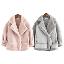 New   Girls Coats And Jackets  Suede Fleece  Kids Coats Fashion 4 10 Old Size  Autumn Winter 9GT018