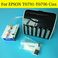 6 Color/Set Continuous Ink Supply System For Epson PX710W 1430 1500W P50 1400 PX650 PX720WD PX730WD Ciss