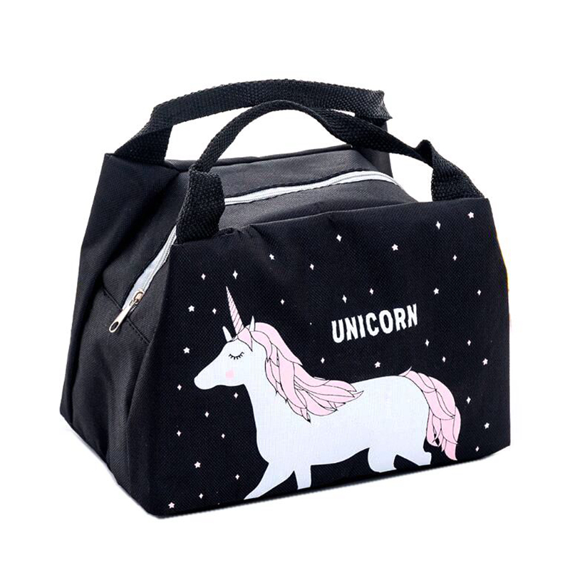 Functional Bags Independent Girl Cartoon Animal Unicorn Lunch Bag Portable Waterproof Insulated Big Cold Canvas Picnic Totes Case Kids Women Thermal Box Chills And Pains