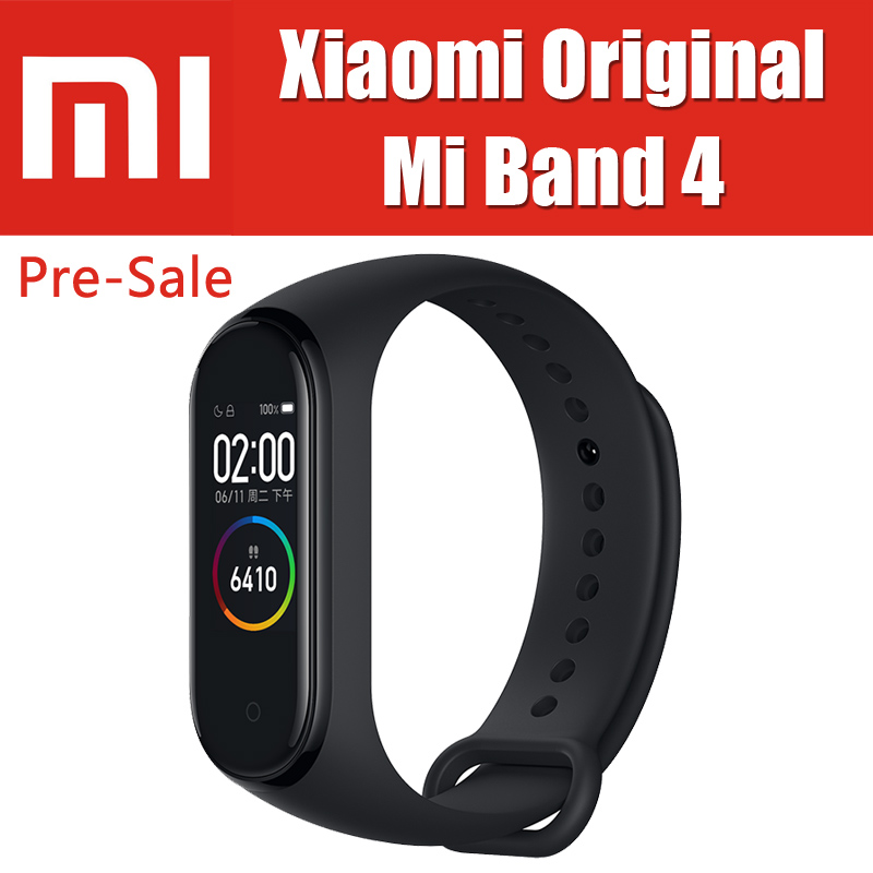 5ATM 22.1g Miband 4 Original Xiaomi Mi Band 4 Smart Bracelet Heart Rate Fitness 0.95 inch 135mAh On Cell Screen BT5.0 BLE xiaomi mi band 4