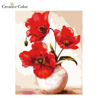 Diy Digital Oil Painting Frameless Picture Flower Gift Paint By Number Kits Gift Cuadros Decoracion Painting
