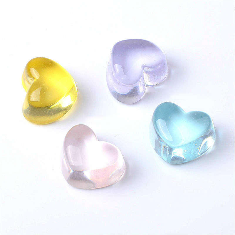 Happy Monkey 20pcs/pack Slime Supplies Toys Resin DIY Love Transparent Candy Slime Accessories Filler For Clear Crystal Slime