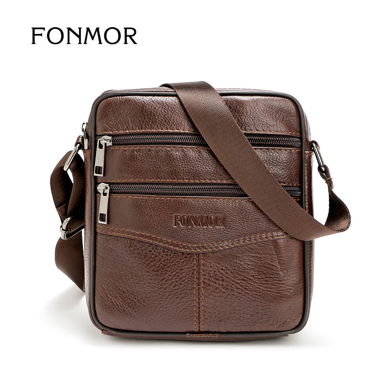 Fonmor Business Leather Mens Messenger Bag Vintage Men's Crossbody Bag bolsas male Large Capacity Handbag For Man