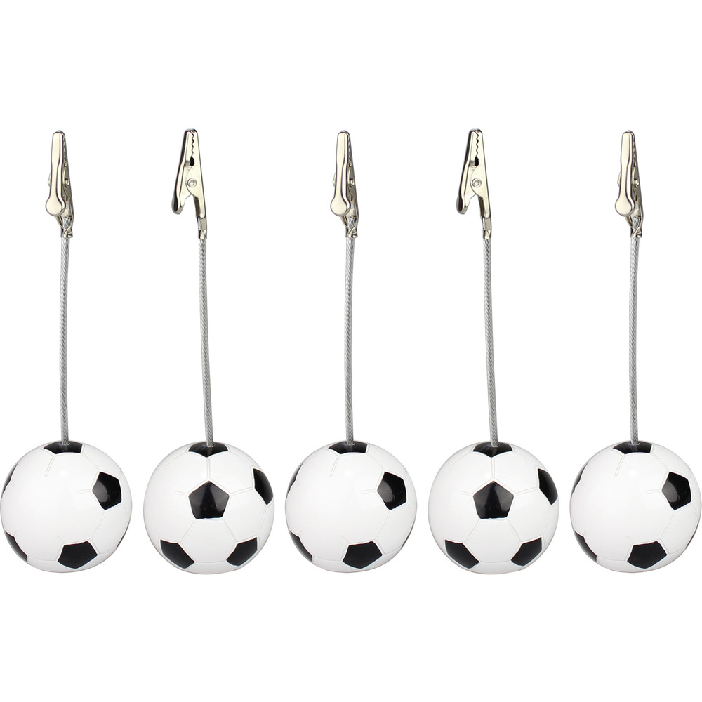 Lot 5pcs Football Bse Alligator Wire Photo Clip,Memo Holder,Table Place Card Clamp,World Cup Game Event Display,Meeting Deco