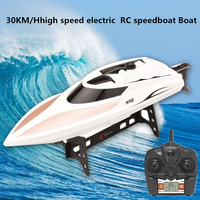 RC speedboat RC Boat Professional Racing double waterproof boat 2.4g 4CH 150m 30KM/H high speed electric rc Toy boat