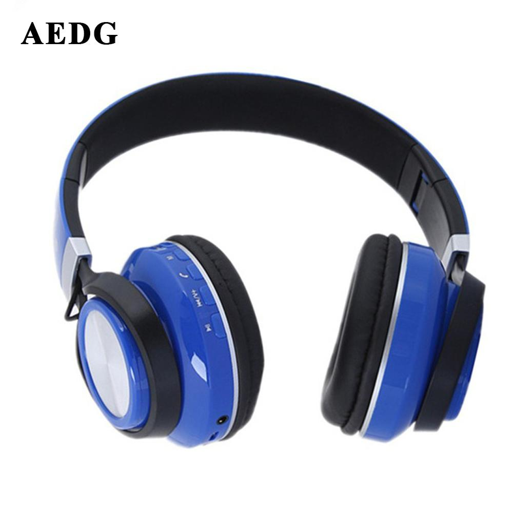 aedg ear phones head mounted bluetooth headset wireless headphones dynamic with mic foldable. Black Bedroom Furniture Sets. Home Design Ideas