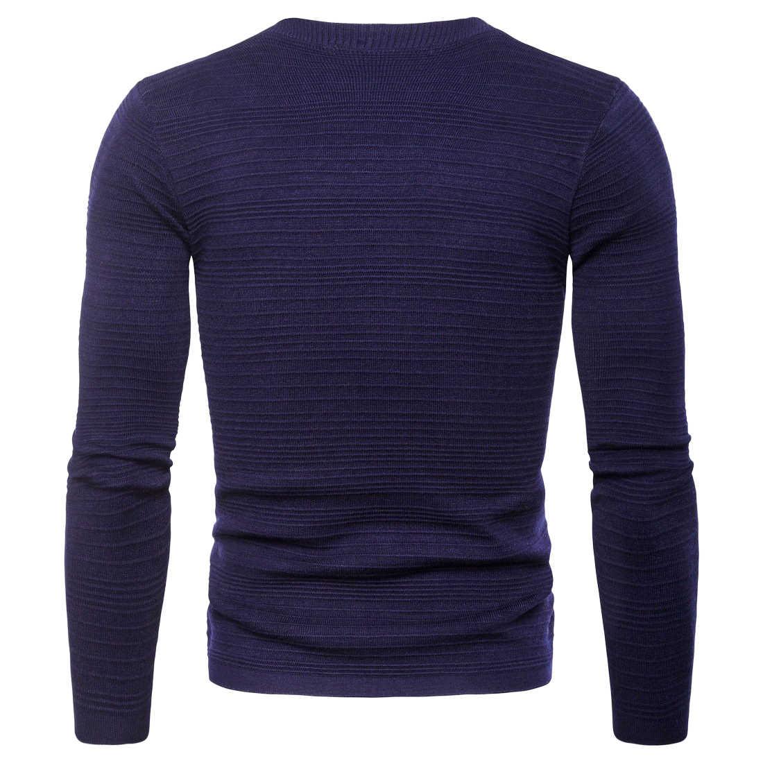 Vomint 2019, новый осенний мужской свитер, вязаный кардиган с двумя пуговицами, с длинными рукавами, базовая Повседневная Деловая одежда, черный, синий, серый