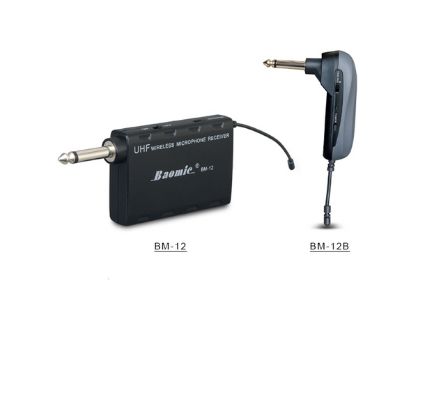 new baomic bm12b guitar wireless system audio professional uhf wireless instrument system. Black Bedroom Furniture Sets. Home Design Ideas