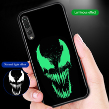 ciciber Cover For Huawei P30 P20 Mate 20 Pro Lite Phone Cases Honor 10 Tempered Glass Case Marvel Venom iron Man Thanos