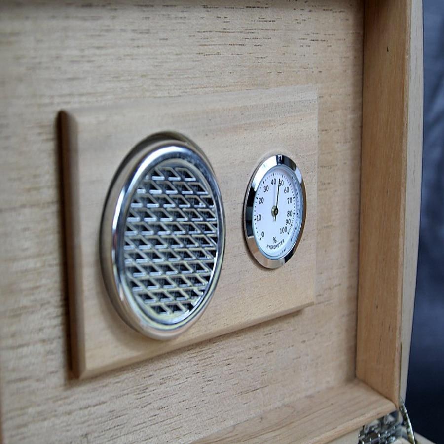 COHIBA Cigar Case Humidor Travel cedar Wood cigar box With Humidier and Hygrometer carbon fiber face Humidors Cigar Accessories