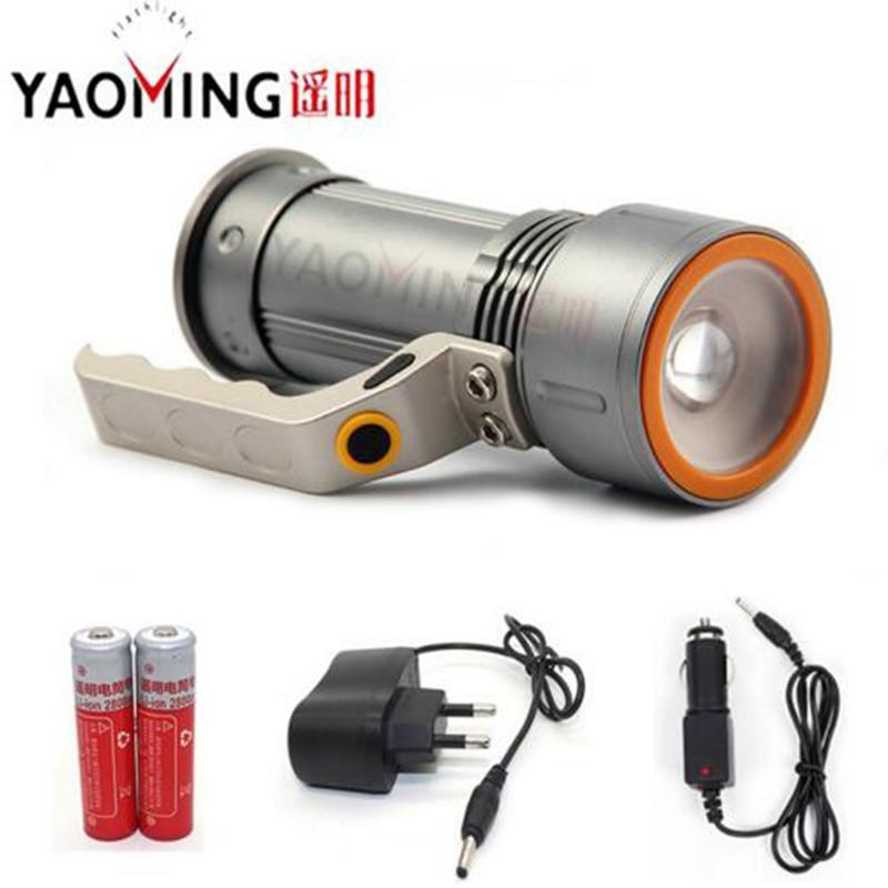 Kraftig LED lommelygte Cree Q5 2000LM Vandtæt lanterne Searchlight - Bærbar belysning