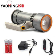 Powerful Led Flashlight Cree Q5 2000LM Waterproof Lantern Searchlight Camping Linterna + 18650 Rechargeable Battery + Charger