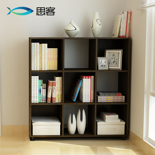 Simple Small Bookshelf Think Off The Floor At Home CD Rack Shelf Bookcase Storage